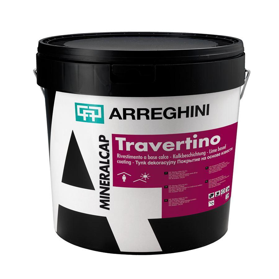 TRAVERTINO CAP Декоративное покрытие с эффектом камня травертин или бетон на основе извести с крупной фракцией