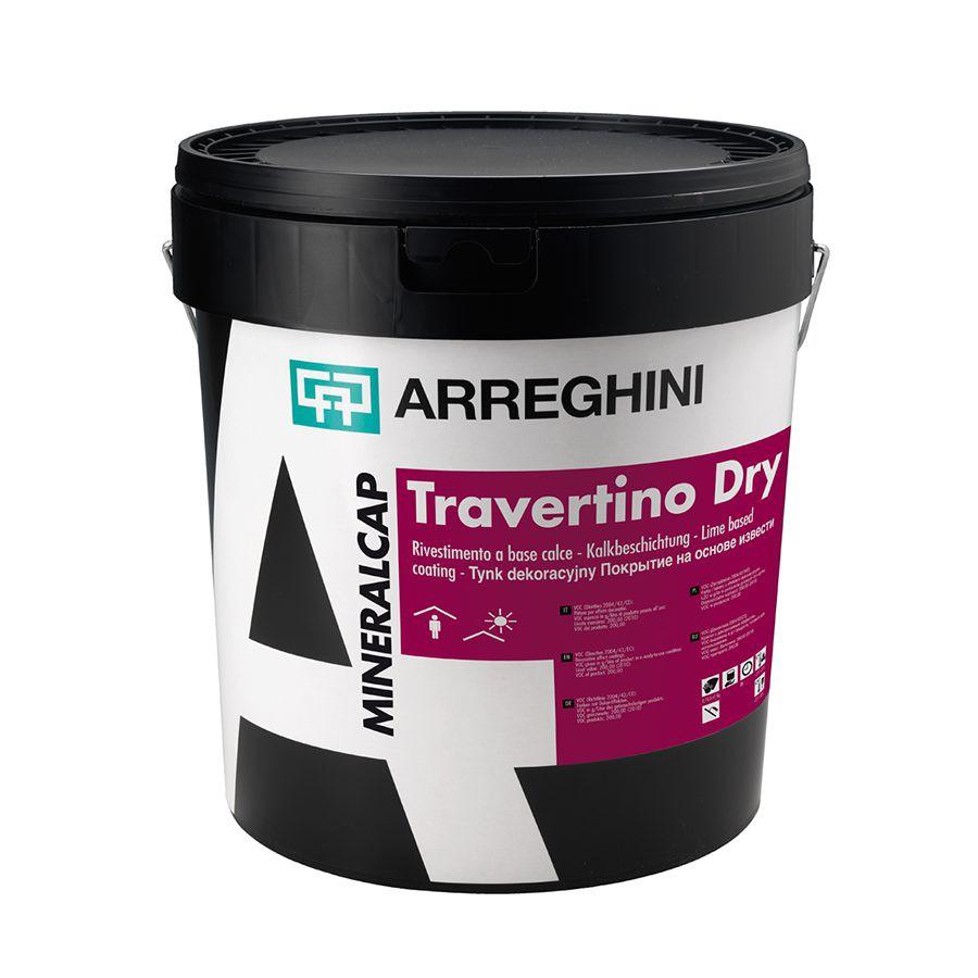 TRAVERTINO CAP DRY Декоративное покрытие с эффектом камня травертин или бетон на основе извести с крупной фракцией (в сухом виде)