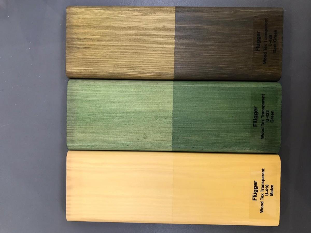 цвета защиты дерева от влаги и грибка Flugger wood tex transparent