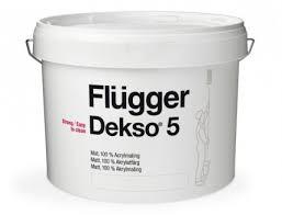 матовая моющаяся акриловая краска для стен и потолка Flugger DEKSO 5