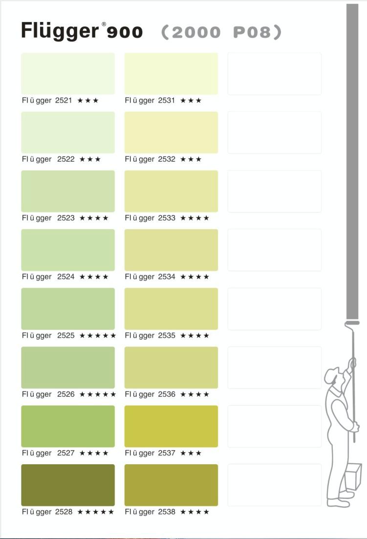 палитра Flugger 900 цвета 2000