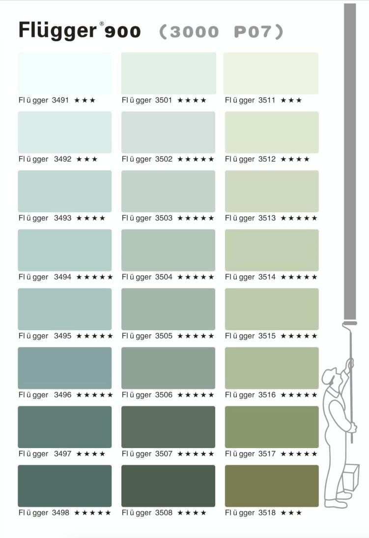 палитра Flugger 900 цвета 3000