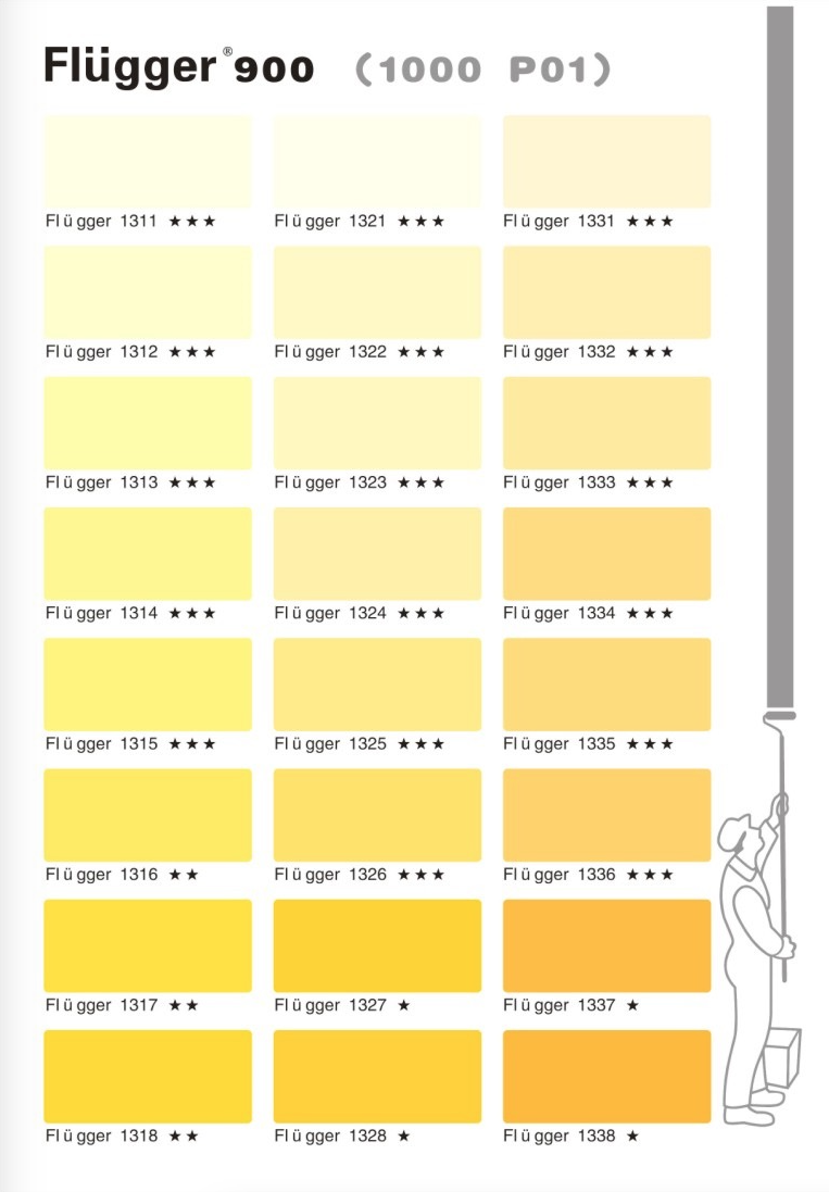 палитра Flugger 900 цвета 1000