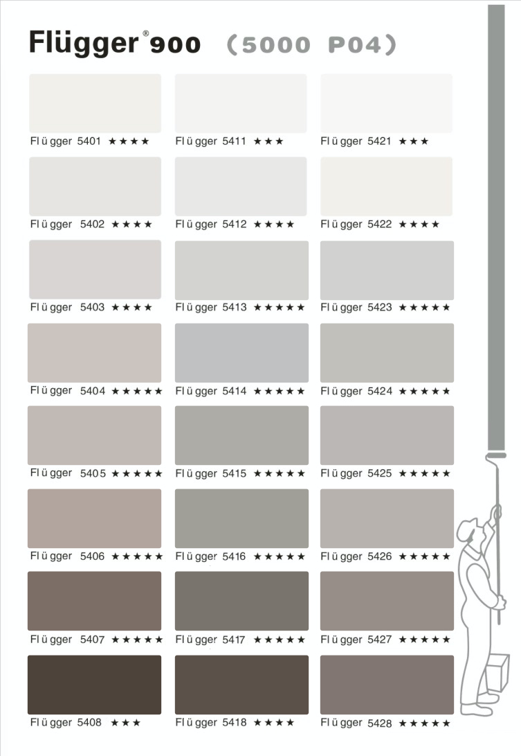 палитра Flugger 900 цвета 5000
